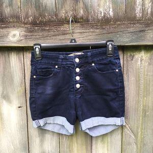 High-Waisted Dark Wash Zara Denim Shorts